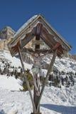 Incrocio sull'alta montagna Immagini Stock
