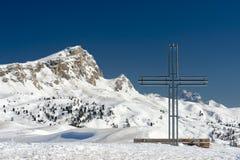 Incrocio sull'alta montagna Fotografia Stock Libera da Diritti