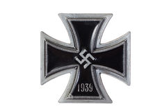Incrocio tedesco nazista del ferro della medaglia Fotografia Stock Libera da Diritti