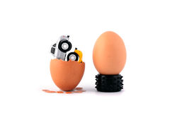 Incubation of eggs. A birth of cars Royalty Free Stock Photo