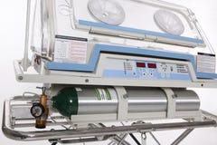 Incubator. Modern neonatal incubator hospital equipment Stock Image