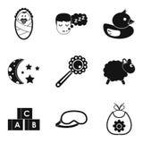 Incubator icons set, simple style. Incubator icons set. Simple set of 9 incubator vector icons for web isolated on white background Royalty Free Stock Images