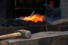Incudine e martello Fotografia Stock Libera da Diritti
