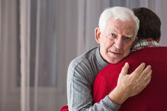 Free Incurable Senior And His Son Stock Images - 69412114