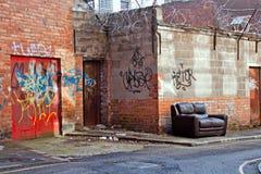 Incuria del centro urbano Fotografia Stock