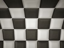 Incurved chequered leather pattern with rectangle segments Royalty Free Stock Photography