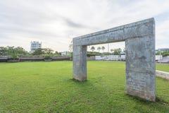 Incurvi i graffiti al parco nella città di Phuket, Tailandia fotografia stock libera da diritti