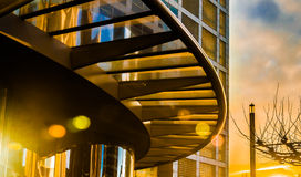 Incurvi il baldacchino all'entrata di costruzione moderna Immagini Stock Libere da Diritti