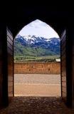 Incurvi la vista delle alpi svizzere in groviera, Svizzera Fotografie Stock Libere da Diritti