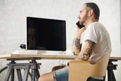 Indépendant avec beaucoup de passe-temps fonctionnant à la maison réglé Photos libres de droits