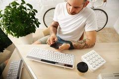 Indépendant avec beaucoup de passe-temps fonctionnant à la maison réglé Photo stock