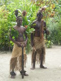 Indígenas en Vanuatu Fotos de archivo libres de regalías