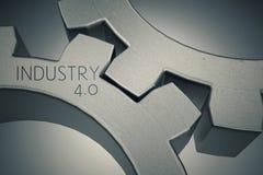 Indústria 4 0 com engrenagens Fotos de Stock Royalty Free
