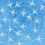 Indústria da aviação com grupo de avião imagem de stock royalty free