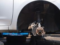 Indústria da garagem do sistema da ruptura da manutenção do serviço do carro auto Fotos de Stock Royalty Free