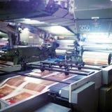 Indústria de impressão, detalhe de máquina de impressão fotos de stock royalty free
