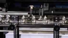 Indústria de impressão, maquinaria video estoque