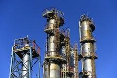 Indústria de petróleo e gás, instalação petroquímica imagem de stock