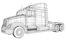 Indústria de transporte, transporte da logística e fio comercial do conceito do negócio industrial de transporte de frete da carg ilustração royalty free