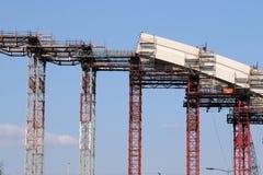Indústria do canteiro de obras do arco da ponte foto de stock