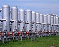 Indústria do gás fotografia de stock