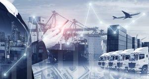Indústria do transporte do transporte e da logística foto de stock royalty free