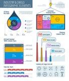 Indústria e carga Infographic Fotos de Stock