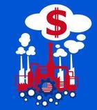 Indústria e economia de Estados Unidos Fotografia de Stock Royalty Free