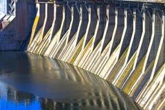 Indústria energética hidroelétrico da represa Imagem de Stock
