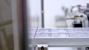 Indústria farmacêutica Linha de produção farmacêutica empacotamento farmacêutico video estoque