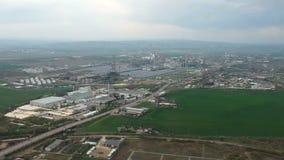 Indústria industrial e petroquímica em Ploiesti, Romênia vídeos de arquivo