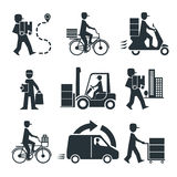 Indústria logística do negócio do frete da pessoa da entrega Imagem de Stock Royalty Free