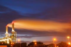 Indústria no porto de Rotterdam Imagens de Stock