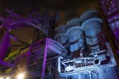 Indústria para fabricar da gusa, Ostrava, República Checa imagem de stock royalty free