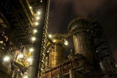 Indústria para fabricar da gusa, Ostrava, República Checa foto de stock royalty free