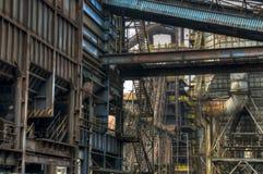 Indústria para fabricar da gusa, Ostrava, República Checa imagem de stock