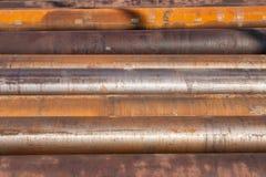 Indústria pesada da oxidação das tubulações de aço Fotos de Stock Royalty Free