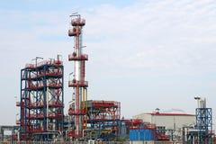 Indústria petroleira da instalação petroquímica Fotografia de Stock Royalty Free