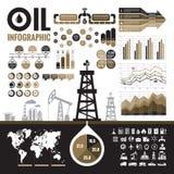 Indústria petroleira - elementos infographic do vetor para a apresentação, a brochura e o outro projeto de design Fotografia de Stock Royalty Free