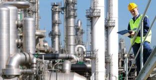 Indústria petroquímica Fotos de Stock