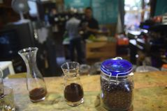 Indústria processada do café Fotografia de Stock Royalty Free