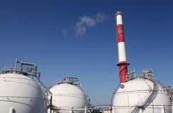 Indústria química de tanque de armazenamento Imagens de Stock Royalty Free