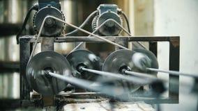 Indústria química - tela para o reforço composto da fibra de vidro - parte da linha da maquinaria filme