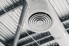 Indústria que constrói a tubulação interior da condição do ar do canal de ar imagens de stock