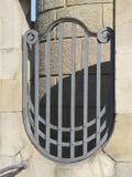 Indústria siderúrgica decorativa no estilo de Nouveau da arte fotografia de stock