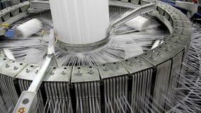 Indústria têxtil video estoque