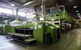 Indústria têxtil (sarja de Nimes) - morrendo Imagem de Stock