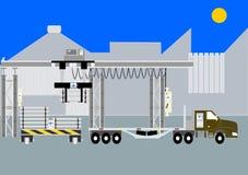 Indústria 4 transporte de materiais inteligente ilustração stock