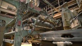 Indústria Vista na produção automatizada de tijolos video estoque