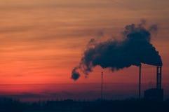 Indústrias da poluição Fotografia de Stock Royalty Free